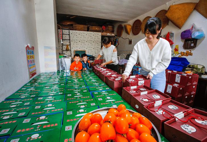 """淳安:""""红姑娘""""无核柿开始采收上市――浙江在线"""
